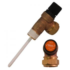 "PRESSURE & TEMPERATURE RELIEF VALVE 3/4""x22 BLACK KNOB"